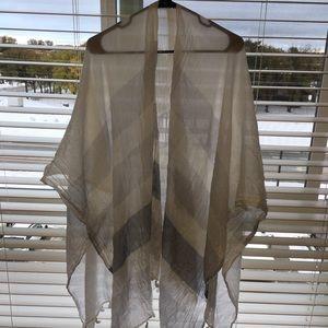 Lululemon white striped shawl